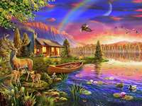 chata u jezera - m /................../