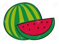 melancia letra S - carta de aprendizagem melancia