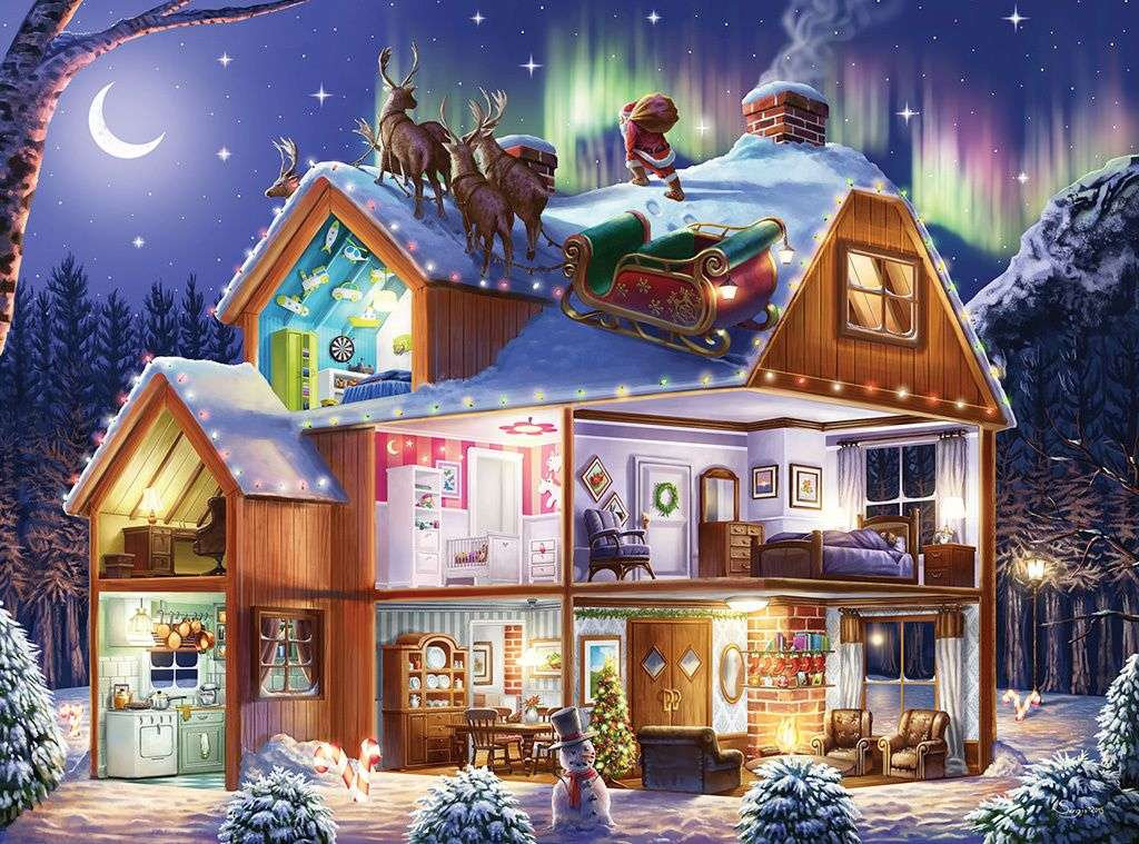 приказна гледка към къща с оборудване - м /................../ (20×15)
