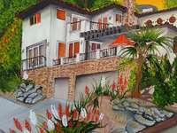 Festmény spanyol ház - Festmény spanyol ház