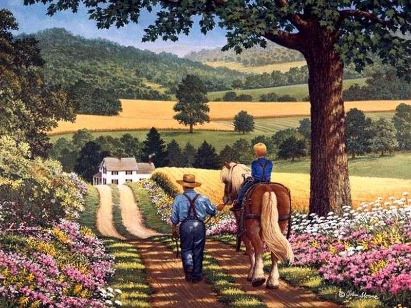 livet på landsbygden tidigare - m (10×8)