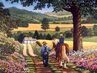 life in the countryside in the past - m .......................