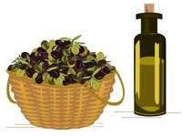 OLIVE AND OIL (3) - Join the pieces of the puzzle and make the picture.