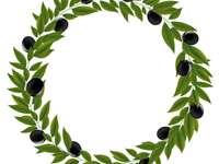 olivový věnec - Připojte se k dílkům skládačky a vytvořte obrázek.