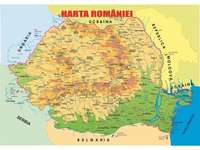 Puzzel kaart van Roemenië