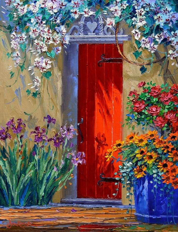 Gemälde Haus im warmen Süden