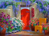 Schilderend huis in het warme zuiden - Schilderend huis in het warme zuiden