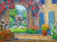 Maison de peinture dans le sud chaud