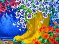 Боядисване на ботуши като плантатори