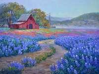 Malířský dům s poli květin - Malířský dům s poli květin