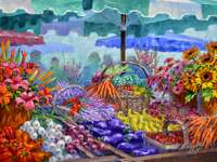 Mercado de pintura na Provença - Mercado de pintura na Provença
