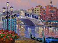 Festmény Velence Rialto híd - Festmény Velence Rialto híd