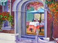 Venetië Trattoria schilderen