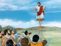 JESUS SUBIDA AO CÉU - JESUS DIZ ADEUS A SEUS DISCÍPULOS