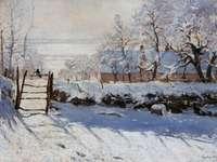 Claude Monet - Cotofana zimą - Claude Monet (1840-1926) ... wreszcie otworzyłem oczy i naprawdę zrozumiałem naturę. W tym samym