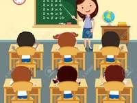 Salle de classe - Assemblez le puzzle sur la salle de classe, il y a 9 tuiles.