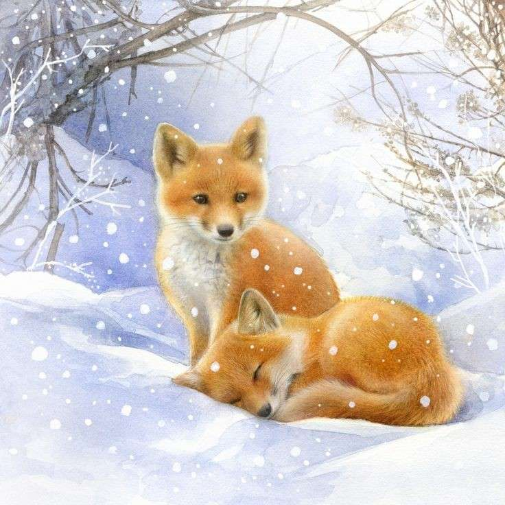 Schlauer Fuchs - Lösche das süße Fuchs-Puzzle (3×3)