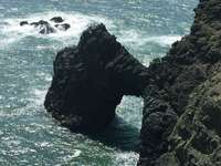 rocce in spiaggia - Point Bonita, Marin Headlands, CA, Stati Uniti
