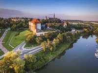 Sandomierz - Vista di Sandomierz. Sandomierz è una città sul fiume Vistola.