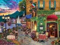 Olasz táj - Olasz romantikus táj