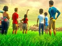 Jurassic World Wonder - Wir können sehen, wie jeder die Dinosaurier bewundert, sie sind wunderbar.