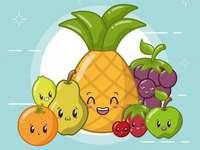 glada frukter - Frukt är mycket friska.