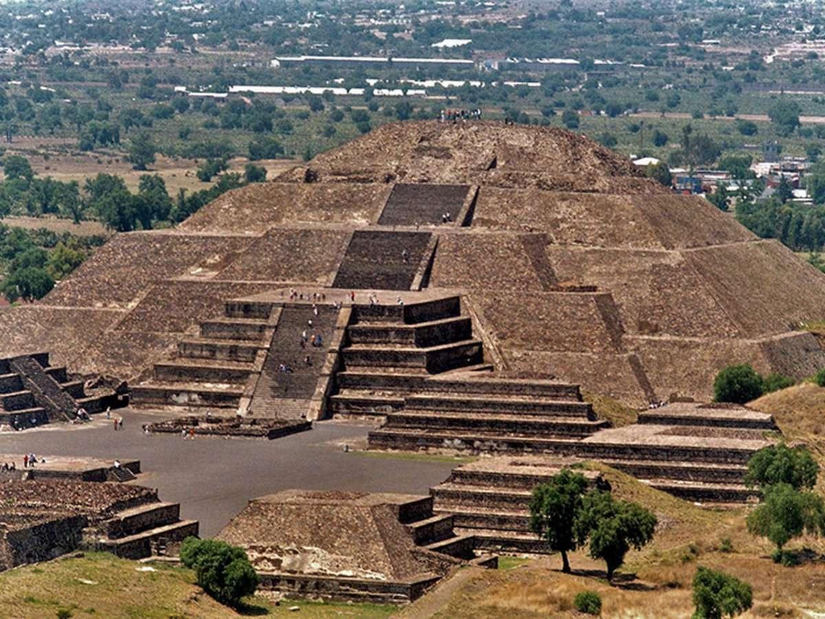 Теотиуакан - Пирамида на teotihucan Мексико (9×7)