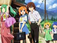 Higurashi 2020 - Odcinek 1 - Sezon 1 - Mion, Rena, Keiichi, Satoko, Rika