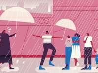 съпричастност в дъжда