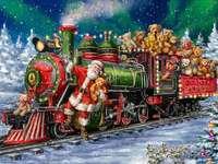 Papai Noel está carregando presentes - ursinhos de pelúcia - m .......................