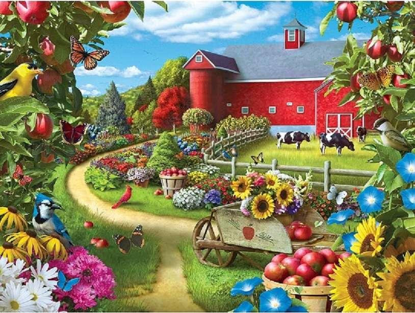 Bauernhof - Landschaftspuzzle (10×8)