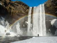 FJÄLL, Vattenfall och regnbåge - m ......................