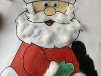 Άγιος Βασίλης - Άγιος Βασίλης χρωματισμένος και διακοσμημένος με βαμβ