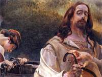 Christ and the Samaritan Woman (painting by Jacek Malczewski - Christ and the Samaritan Woman - oil painting by Polish painter Jacek Malczewski from 1909, belongin