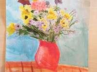 vas cu flori - natura statica в culoare