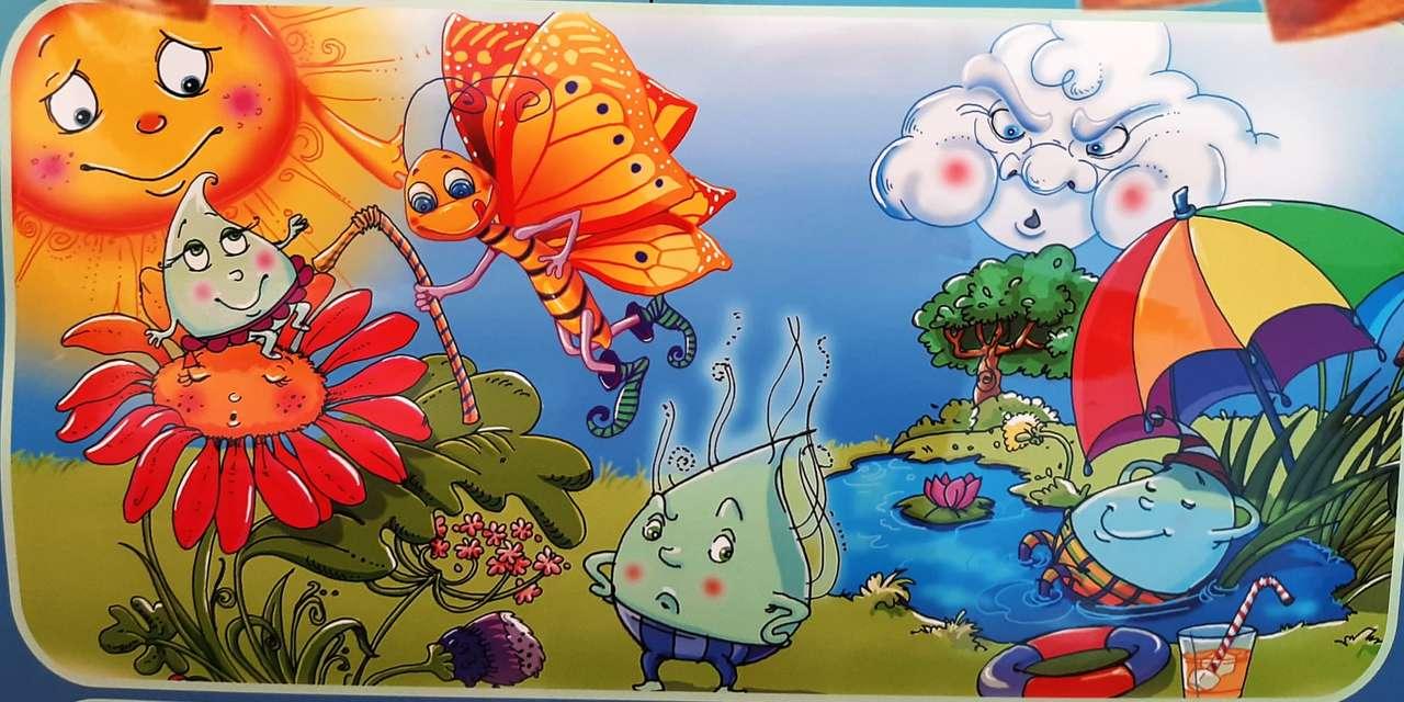 Kapky vody - Tento obrázek je z Příběhu 3 kapek vody (5×3)