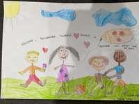 copii la joaca - desen pentru copii de grădiniță