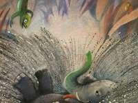 obrázek příběhu - obrázek zeleného slona převzatého z příběhu