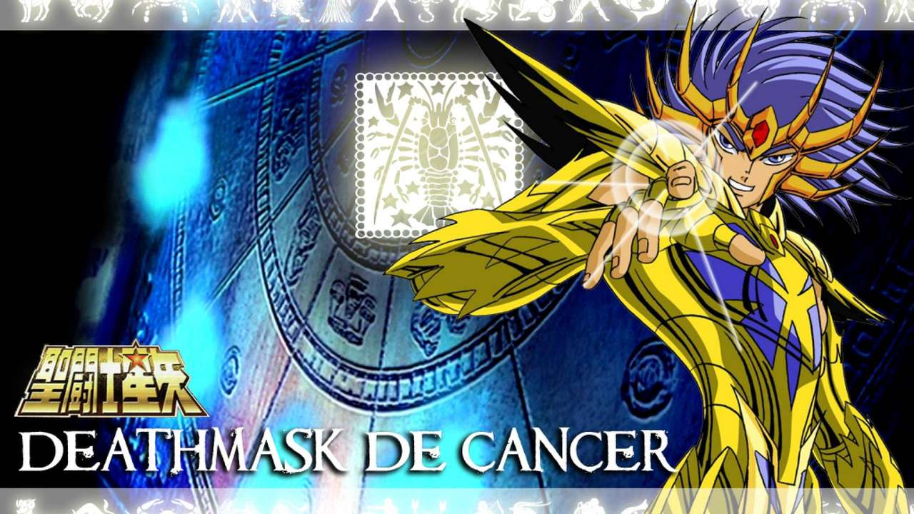 Saint Seiya Deathmask - Saint Seiya Deathmask Gouden Ridder van Kreeft (14×8)