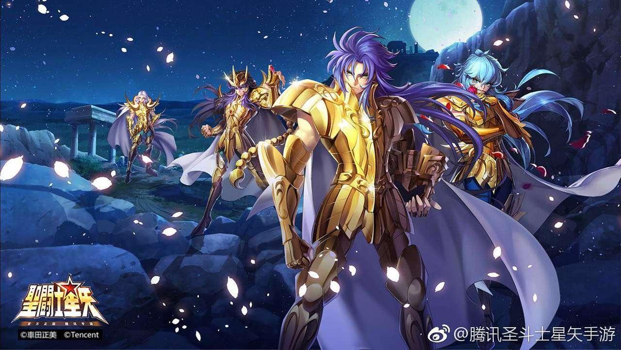 Saint Seiya Gold - Saint Seiya Gold - cavaleiro dourado: Saga Milo Aphrodite Mu (15×9)