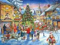 feliz Natal - Natal, cidade, pessoas, festival