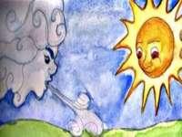 Il Nord e il Sole. - Dal mito di Esopo: Il Nord e il Sole.