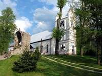 Plébániatemplom Grabówban - A rejtvényeken a grabówi plébániatemplom látható