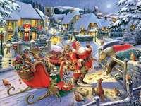 Άγιος Βασίλης και κατοικίδια - Άγιος Βασίλης και τα ζώα. Η πόλη .....