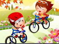 Děti jezdící na kole aboutorabi učitel
