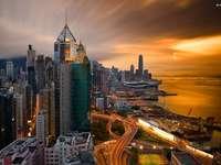 drapacze chmur w hong- kongu - m.........................