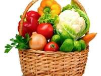 The basket of vegetables - In this picture is a basket of autumn vegetables.