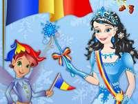 Büszke arra, hogy románok vagyunk - Románia zászla manóval