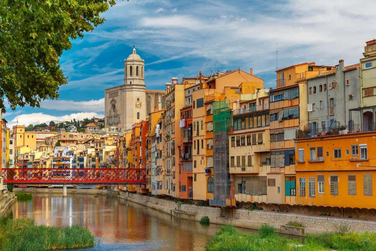 Girona város Spanyolországban (15×10)