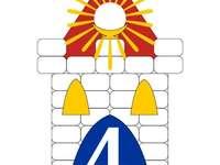 Λογότυπο σχολείου - Τακτοποιήστε το παζλ. Μετακινήστε τα κομμάτια του παζλ